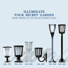 Outdoor IP65 Integrated 1W Solar Powered LED Lights